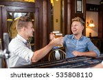 best friends drinking beer in... | Shutterstock . vector #535808110