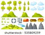 Set Of Landscape Elements Tree...