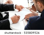 Stock photo notary with client in office 535809526
