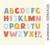 vector cartoon funny alphabet... | Shutterstock .eps vector #535814110