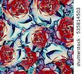 roses.seamless background....   Shutterstock . vector #535814503
