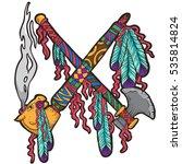 the hand drawn illustration of... | Shutterstock .eps vector #535814824