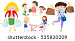 people with shopping bags and...   Shutterstock .eps vector #535820209