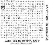 mega set of doodles. super...   Shutterstock .eps vector #535822726