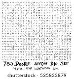 vector hand drawn arrows set   Shutterstock .eps vector #535822879