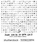 mega set of doodles. super... | Shutterstock .eps vector #535822894