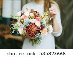 florist shop in daylight. woman ... | Shutterstock . vector #535823668