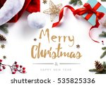 christmas gift  decorations and ... | Shutterstock . vector #535825336