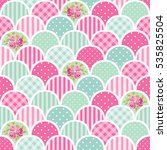 cute seamless vintage pattern... | Shutterstock .eps vector #535825504