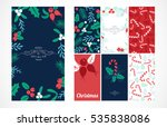 vintage merry christmas and... | Shutterstock .eps vector #535838086