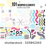 mega set of memphis design... | Shutterstock .eps vector #535842343