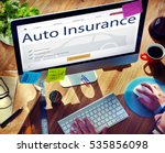 auto insurance vehicle... | Shutterstock . vector #535856098