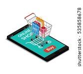 vector illustration. shopping... | Shutterstock .eps vector #535858678
