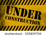 under construction sign yellow... | Shutterstock . vector #535859704