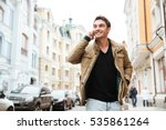 image of happy young man... | Shutterstock . vector #535861264