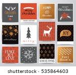 merry christmas illustration... | Shutterstock .eps vector #535864603