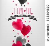 valentine's day illustration | Shutterstock .eps vector #535864810