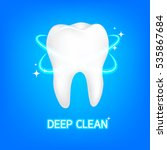 dental care tooth concept.... | Shutterstock .eps vector #535867684
