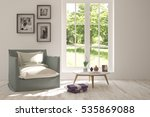 white room with armchair and... | Shutterstock . vector #535869088
