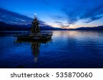 Christmas Tree On A Pontoon ...