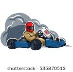 run fast go kart | Shutterstock .eps vector #535870513