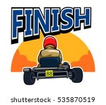 finish go kart race | Shutterstock .eps vector #535870519