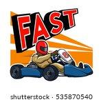 running fast go kart   Shutterstock .eps vector #535870540