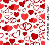 heart love seamless pattern... | Shutterstock .eps vector #535870684