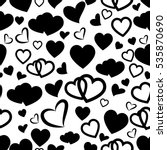 heart love seamless pattern... | Shutterstock .eps vector #535870690