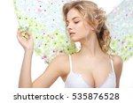 beautiful sexual blonde in a... | Shutterstock . vector #535876528