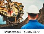 coal mining in an open pit.... | Shutterstock . vector #535876870