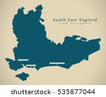 modern map   south east england ... | Shutterstock . vector #535877044
