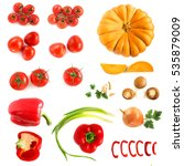 Vegetables Set. Tomatoes ...