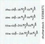 illustration of trigonometrical ... | Shutterstock .eps vector #53588371