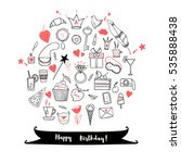 happy birthday greeting card... | Shutterstock .eps vector #535888438