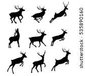 deer silhouette   vector... | Shutterstock .eps vector #535890160
