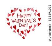 valentine day hand drawn... | Shutterstock . vector #535891033