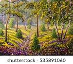 Original Oil Painting Of Pine...