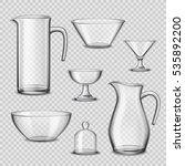 kitchen glassware utensils... | Shutterstock .eps vector #535892200
