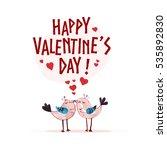 valentine day hand drawn... | Shutterstock . vector #535892830