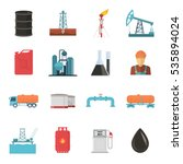 oil and gas industry isolated... | Shutterstock .eps vector #535894024