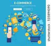 e commerse online store flat... | Shutterstock .eps vector #535894090