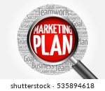 marketing plan word cloud with... | Shutterstock . vector #535894618