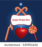 christmas card with candy and... | Shutterstock .eps vector #535901656
