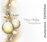 christmas and new year greeting ... | Shutterstock .eps vector #535902964