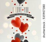 valentine's day illustration | Shutterstock .eps vector #535907380
