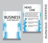 vector brochure flyer design... | Shutterstock .eps vector #535909543