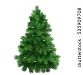 green christmas trees.christmas ... | Shutterstock .eps vector #535909708