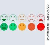 set of emoticons. set of emoji. ...   Shutterstock .eps vector #535909720