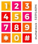 set of colorful flat number... | Shutterstock .eps vector #535914094